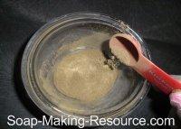 Measuring Out Black Walnut Hull Powder