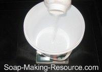 Measuring Lye for Lavender Soap recipe