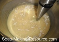Mixing Colloidal Oatmeal into Soap