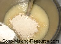 Mixing Colloidal Oatmeal into Shaving Soap