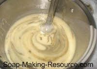 Mixing in Bentonite Clay with Stick Blender