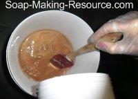 Pouring Lye into Walnut Milk