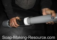 Sliding the Gliding Base Plate into the Cylinder Soap Mold