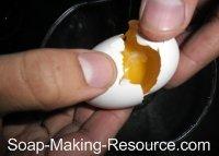 Separating Egg Yolk from White
