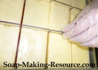Removing the Mango Butter Lotion Bars from the Mold