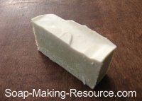 Soap Colored with 1 Teaspoon of Comfrey Powder
