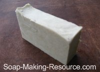 Soap Colored with 2 Teaspoon of Comfrey Powder