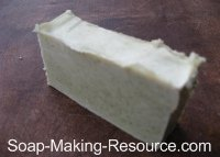 Soap Colored with 4 Teaspoon of Comfrey Powder