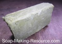 Soap Colored with 2 Teaspoon Spirulina Powder per Pound of Soap