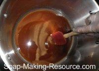 Stirring Soap Manually