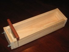five pound wooden soap mold